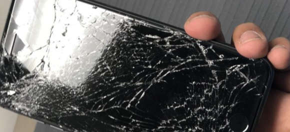iphone 8 gebarsten scherm peter
