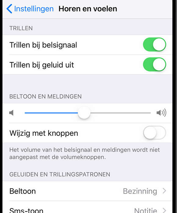 iphone trilfunctie activeren